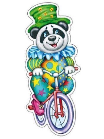"""Купить Плакат вырубной """"Панда на велосипеде"""" в Москве по недорогой цене"""