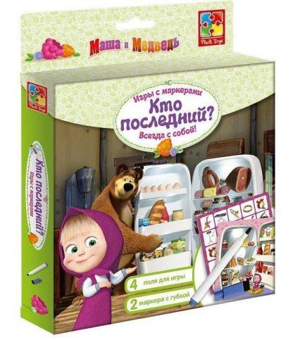 """Купить Игра с маркерами """"Маша и Медведь"""". Кто последний? в Москве по недорогой цене"""