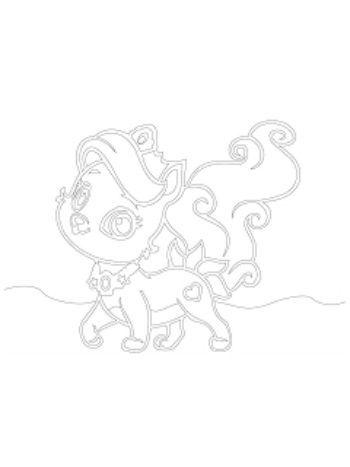 """Купить Трафарет для цветного песка """"Кошка"""" в Москве по недорогой цене"""