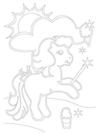 """Купить Трафарет для цветного песка """"Пони-волшебник"""" в Москве по недорогой цене"""