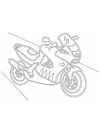 """Купить Трафарет для цветного песка """"Мотоцикл"""" в Москве по недорогой цене"""