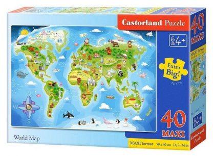 """Купить Пазл """"Карта мира"""""""