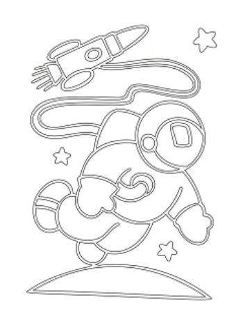 """Купить Трафарет для цветного песка """"Космонавт"""" в Москве по недорогой цене"""