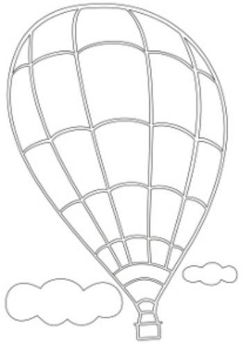 """Купить Трафарет для цветного песка """"Воздушный шар"""" в Москве по недорогой цене"""