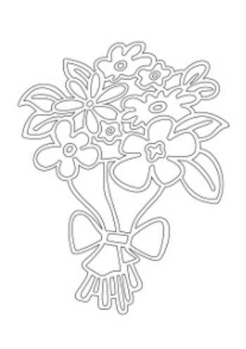 """Купить Трафарет для цветного песка """"Букет цветов"""" в Москве по недорогой цене"""