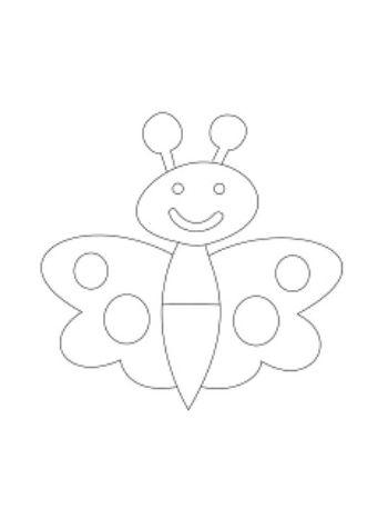 """Купить Трафарет для цветного песка """"Бабочка"""" в Москве по недорогой цене"""