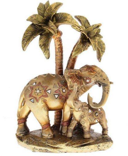 """Купить Сувенир """"Слон со слонёнком под пальмой. Мозаика. Геометрия"""" в Москве по недорогой цене"""