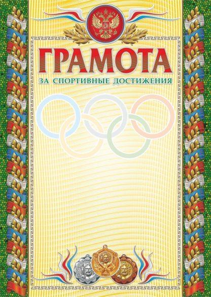 Купить Грамота за спортивные достижения (бронза) (взрослая) в Москве по недорогой цене