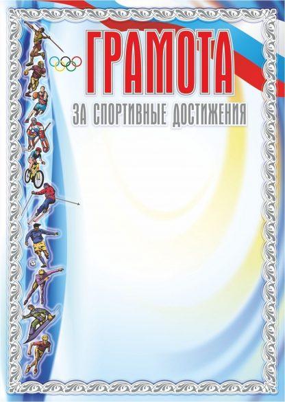 Купить Грамота за спортивные достижения (серебро) в Москве по недорогой цене