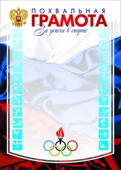 Купить Похвальная грамота за успехи в спорте в Москве по недорогой цене
