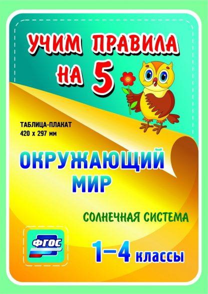 Купить Окружающий мир. Солнечная система. 1-4 классы: Таблица-плакат 420х297 в Москве по недорогой цене