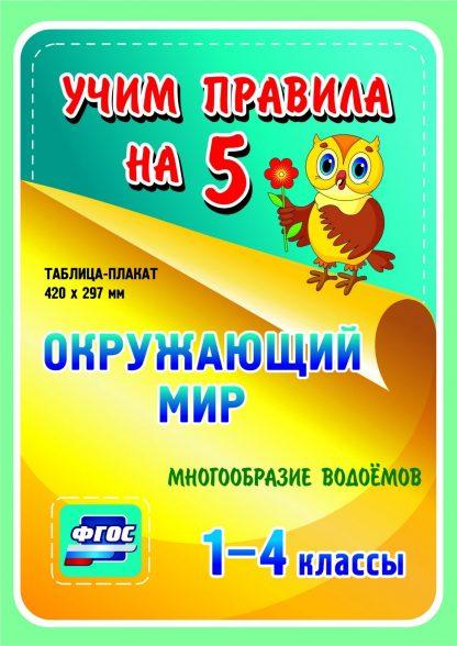 Купить Окружающий мир. Многообразие водоемов. 1-4 классы: Таблица-плакат 420х297 в Москве по недорогой цене