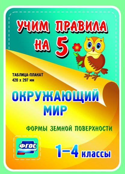 Купить Окружающий мир. Формы земной поверхности. 1-4 классы: Таблица-плакат 420х297 в Москве по недорогой цене