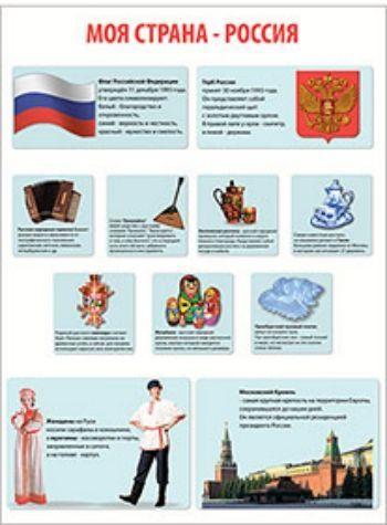 """Купить Плакат """"Моя страна - Россия"""" в Москве по недорогой цене"""