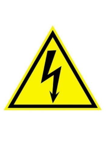 """Купить Наклейка """"Предупреждающий знак. Осторожно! Высокое напряжение"""" в Москве по недорогой цене"""